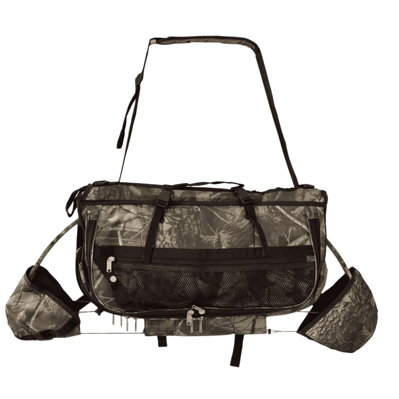 elTORO Carrying-System for Compound Bows with numerous Pockets - Camo