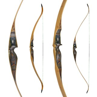 JACKALOPE - Tourmaline - 64 -One Piece Recurve Bow  -...