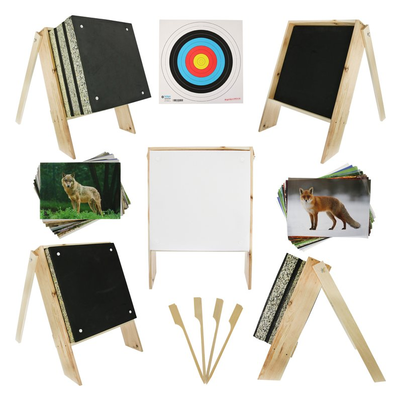 SET for CROSSBOWS | Foam Target for Crossbows - incl. Stand and Target Faces