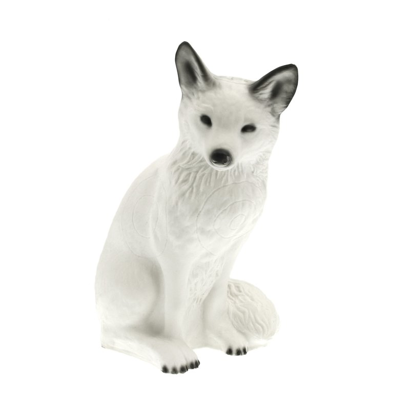 CENTER-POINT 3D Sitting Arctic Fox - Made in Germany