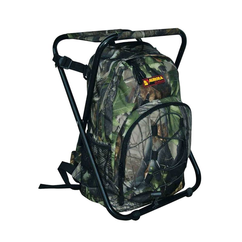AURORA Outdoor Backpack - Backpack with Stool - Camo