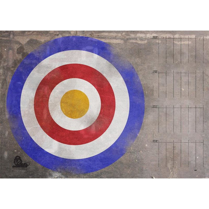 STRONGHOLD Target Face - Medieval Target with Scoreboard - 59 x 83cm - hydrophobic / tear-resistant